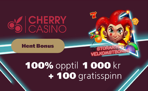 Cherry casino norske casinobonus