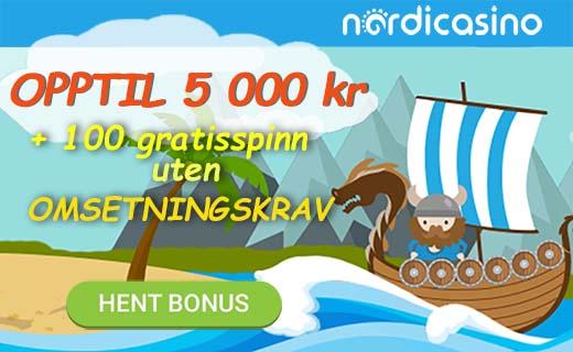 Nordicasino nya bonus