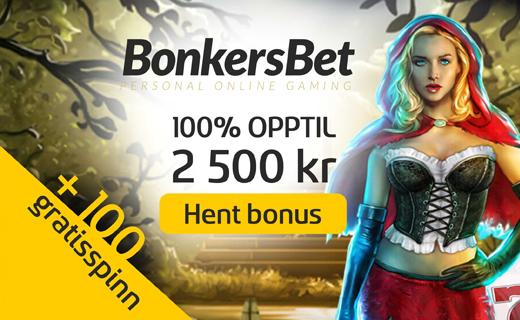 BonkersBet casino nettcasino