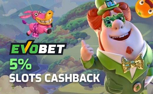 Evobet slots cashback
