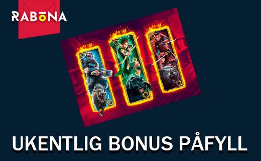 Rabona ukentlig bonus